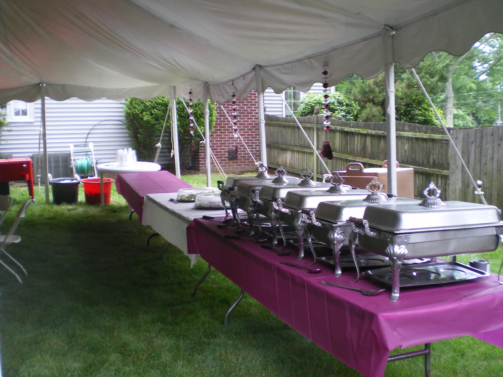 Backyard Tent Buffet